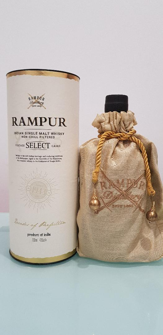 Rampur Single Malt Indian Whisky 700ml @ 43 % abv