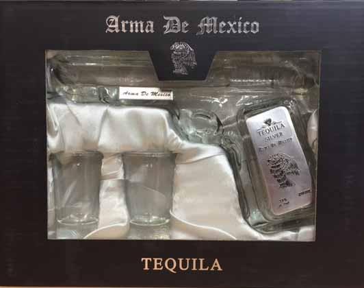 Arma De Mexico Silver Tequila Pistol