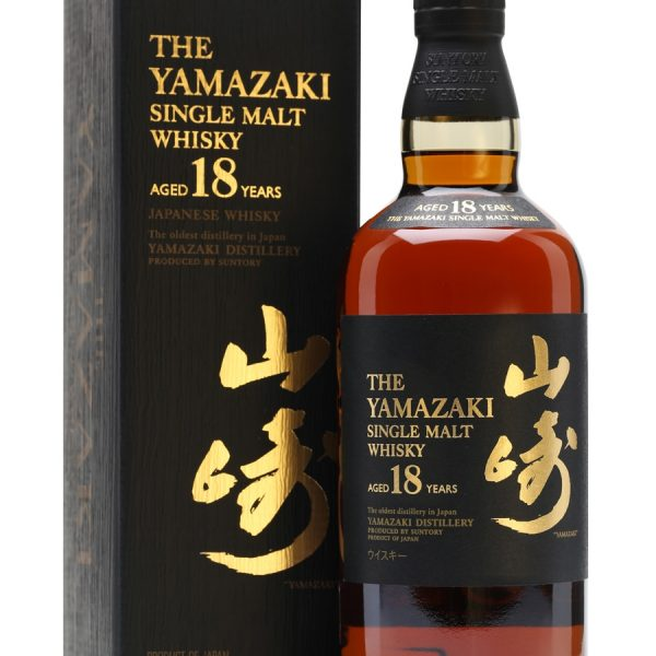 Yamazaki 18 Year Old Single Malt Japanese Whisky 700ml 43 % abv