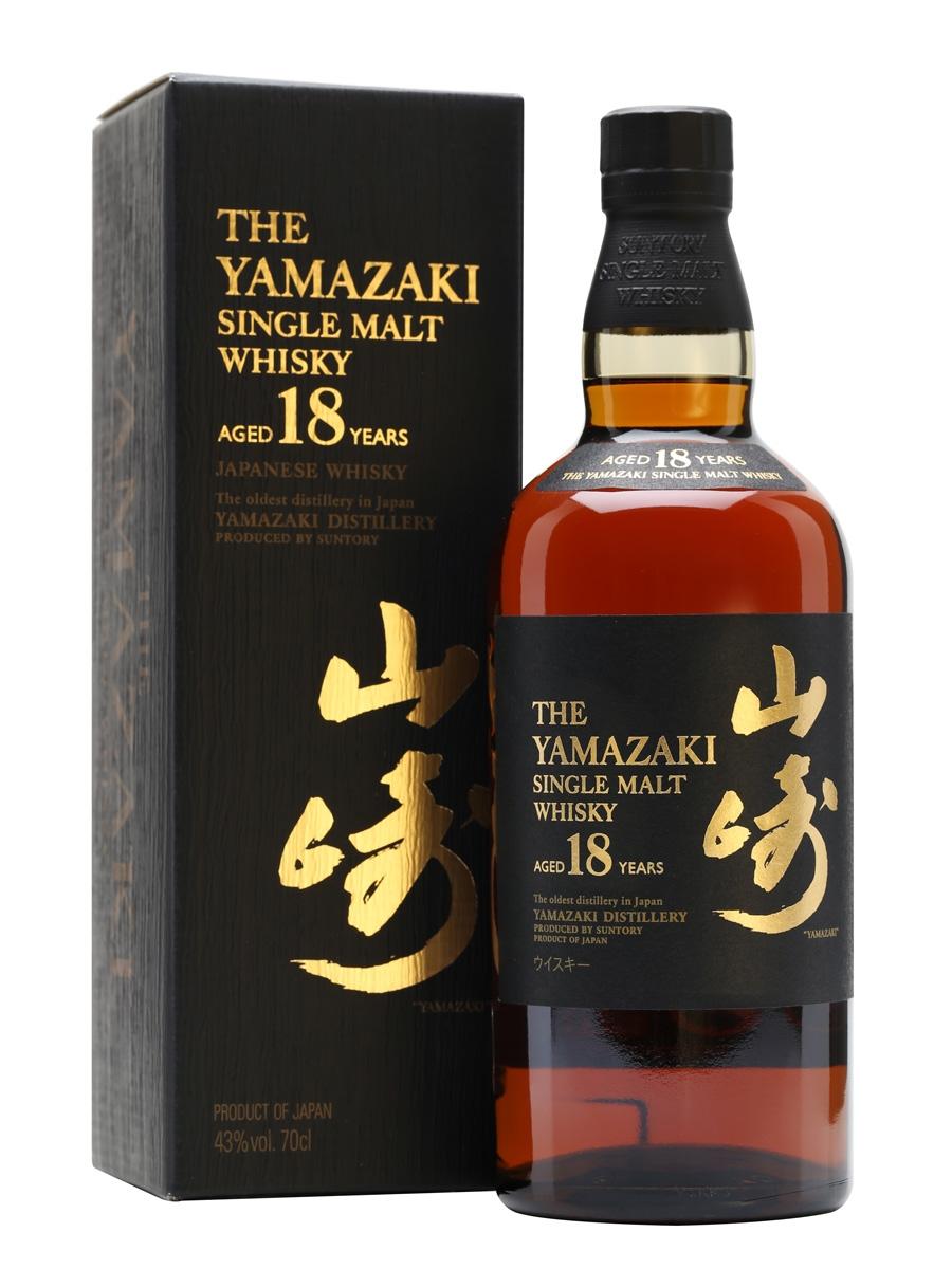 Yamazaki 18 Year Old Single Malt Japanese Whisky 700ml 43 % abv