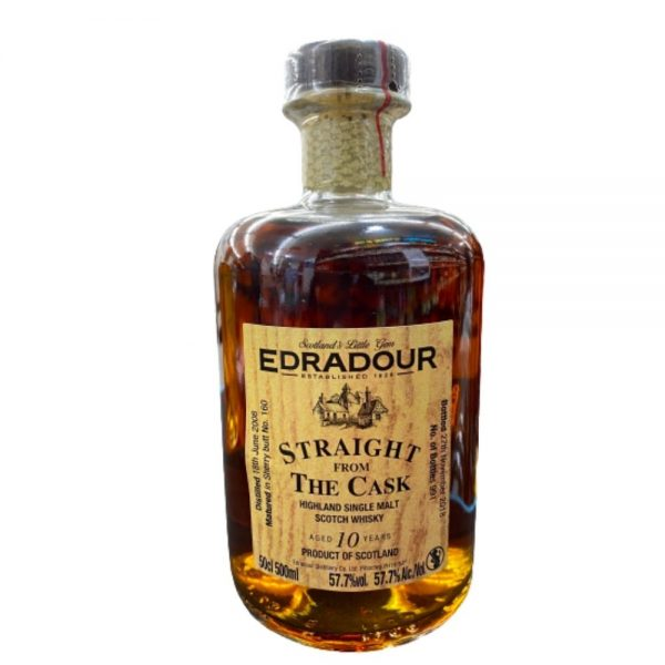 Edradour 10 year old straight from the cask scotch whisky