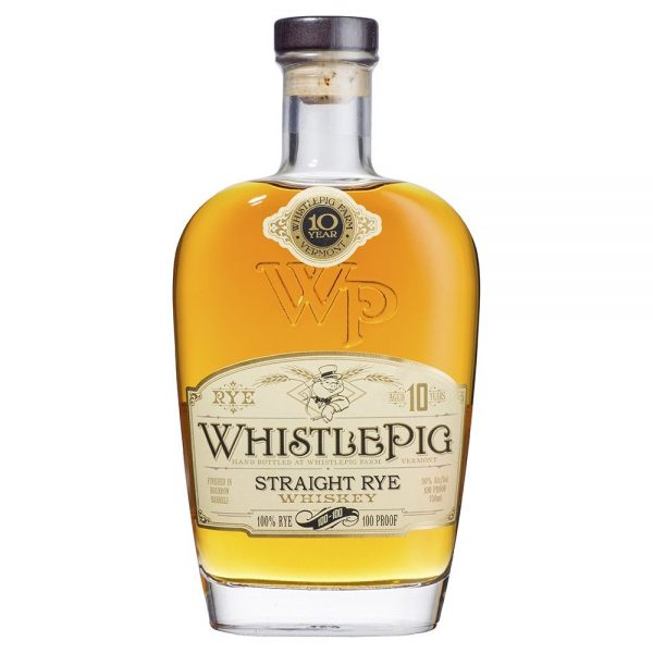 Whistle Pig 10 Year Old Straight Rye Whiskey 750ml @ 40 % abv